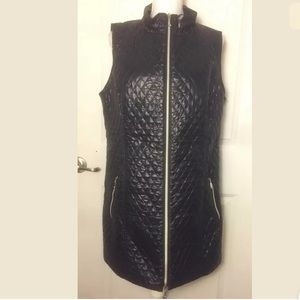 Soft Surroundings Quilted Double Zipper Vest